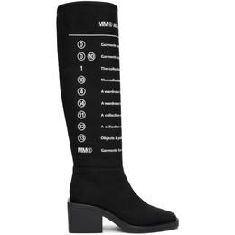 Mm6 Maison Margiela Black Print Logo Boots S59WW0090 P3499