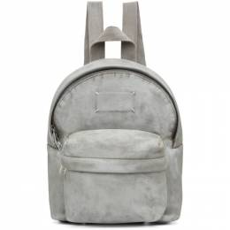 Maison Margiela White Mini Microsuede Backpack S55WA0116 P3531