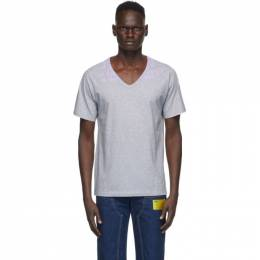 Maison Margiela Grey Cotton V-Neck T-Shirt S30GJ0007 S20299