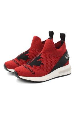 Текстильные кроссовки Dsquared2 64917/T.TEJA+F0GL+D2/28-35