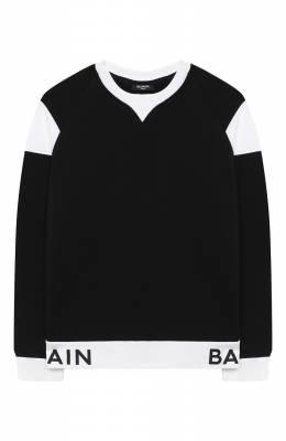 Хлопковый свитшот Balmain 6N4720/NX300/4-10