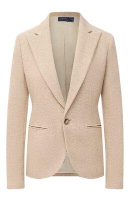 Жакет из шерсти и шелка Polo Ralph Lauren 211800847