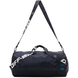 Off-White Navy Nylon Duffle Bag OMNA108E20FAB0014500