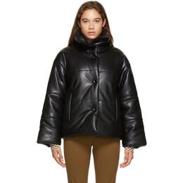 Nanushka Black Faux-Leather Puffer Jacket NW20CRJK01899