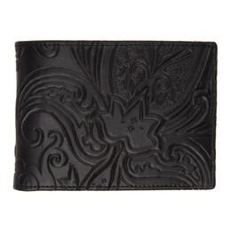 Etro Black Paisley Bifold Wallet 16888 2367
