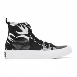 MCQ by Alexander McQueen Black and White Plimsoll High Top Sneakers 621913R2692