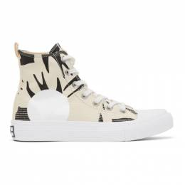 MCQ by Alexander McQueen Off-White and Black Plimsoll High Top Sneakers 621913R2696