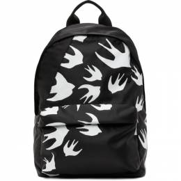 MCQ by Alexander McQueen Black Classic Swallows Backpack 494507R4C26