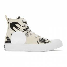 MCQ by Alexander McQueen Off-White Swallow Orbyt High-Top Sneakers 621913R2696
