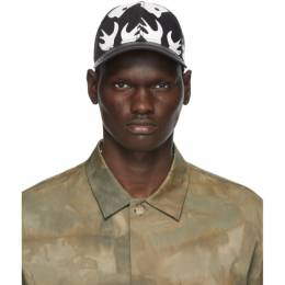 MCQ by Alexander McQueen Black and White Swallow Cap 501183RGC54