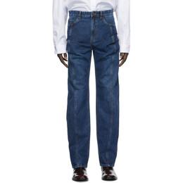 Y / Project Navy Ruffle Pocket Jeans JEAN26-S19