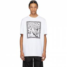 Stella McCartney White Carbot Print T-Shirt 569294SMP79