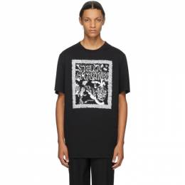 Stella McCartney Black Carbot Print T-Shirt 569294SMP79