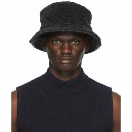 Marni Grey Wool Faux-Fur Bucket Hat CLZC0050A0 S23679