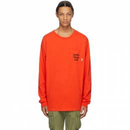 Vans Red WTAPS Edition Waffle Lovers Club Long Sleeve T-Shirt VN0A4TRCZXT