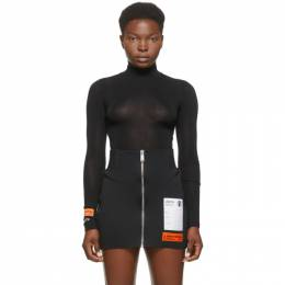 Heron Preston Black Style Turtleneck Bodysuit HWDD006E20JER0011001
