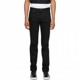 Givenchy Black Raw Edge Slim-Fit Jeans BM50DS5Y0M