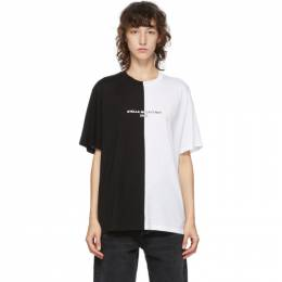 Stella McCartney Black and White Panelled 2001 T-Shirt 601826SOW18