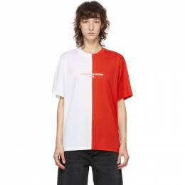 Stella McCartney Red and White Panelled 2001 T-Shirt 601826SOW18