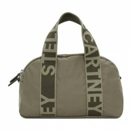 Stella McCartney Khaki ECONYL® Medium Boston Bag 700126W8729