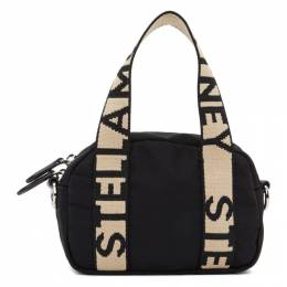 Stella McCartney Black ECONYL® Small Boston Bag 700127W8729