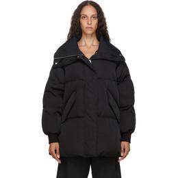 Mm6 Maison Margiela Black Down Oversize Jacket S52AM0151 S53087