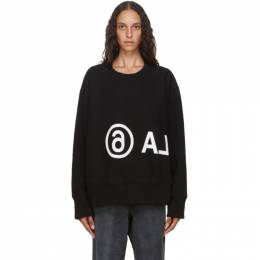 Mm6 Maison Margiela Black Logo Sweatshirt S52GU0084 S25337