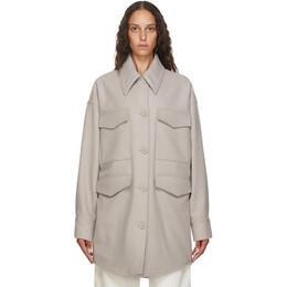 Mm6 Maison Margiela Beige Wool Oversize Coat S52AM0153 S52207