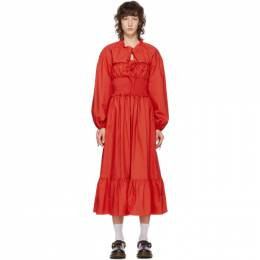 Pushbutton SSENSE Exclusive Red Cotton Smocked Dress PB2040511SW
