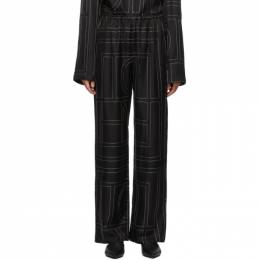 Toteme Black Vizelle Monogram Lounge Pants 203-204-708