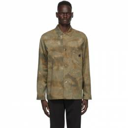 MCQ by Alexander McQueen Green Twill Lewis Shirt Jacket 597827RPP16
