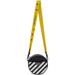 Off-White Black Diag Round Bag OWNA110E20LEA0031001