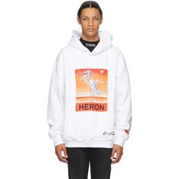 Heron Preston White Kenny Scharf Edition Heron Hoodie HMBB010F20JER0090120