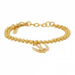 MCQ by Alexander McQueen Gold Swallow Skull Bracelet 597466R1J99