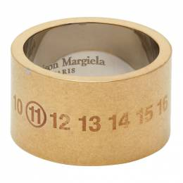 Maison Margiela Gold Chunky Numbers Ring SM1UQ0017 S12695