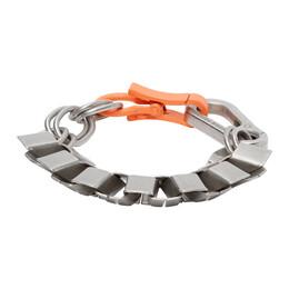 Heron Preston Silver Cubic Bracelet HMOA003F20MET0017222