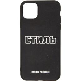 Heron Preston Black Style iPhone 11 Pro Max Case HMPA011F20PLA0011001