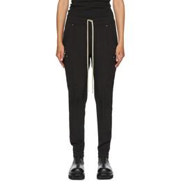 Rick Owens Black Silk Cargo Jogging Lounge Pants RP20F2306 CC