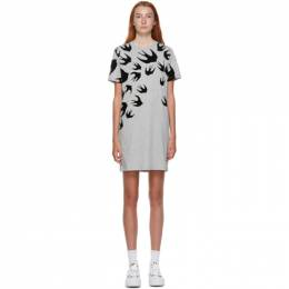 MCQ by Alexander McQueen Grey Swallows Short Dress 395772RLT86