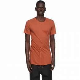 Rick Owens Orange Basic T-Shirt RU20F3251 UC