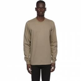 Rick Owens Beige Cotton Jersey Sweatshirt RU20F3277 BA