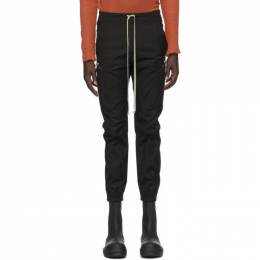 Rick Owens Black Poplin Cargo Jogger Pants RU20F3396 TE