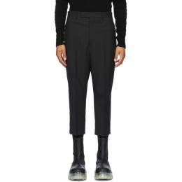 Rick Owens Black Wool Cropped Astaires Trousers RU20F3359 WP