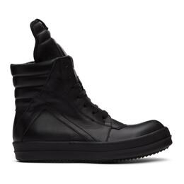 Rick Owens Black Geobasket Sneakers RU20F3894 LPO