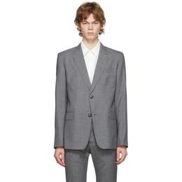 Ami Alexandre Mattiussi Grey Two Buttons Blazer A20HV012.207