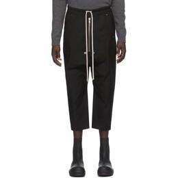 Rick Owens Black Cropped Bela Trousers RU20F3363 TE