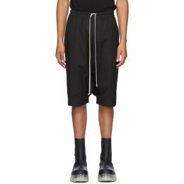 Rick Owens Black Ricks Shorts RU20F3384 TE