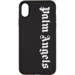 Palm Angels Black Logo iPhone X Case PMPA006E20PLA0061001