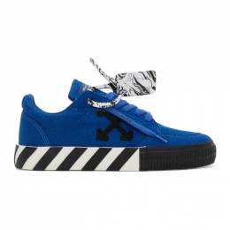 Off-White Blue and Black Vulcanized Low Sneakers OWIA178E20FAB0014510