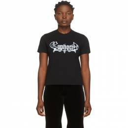 Vetements Black Euphoria Cropped T-Shirt UAH21TR565
